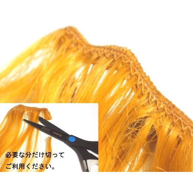 エクステ 人毛100% 編み込み 三つ編み エクステンション ヘアエクステ メッシュ 襟足 全10色/72cm 1束10g 100g|wig-lab|10