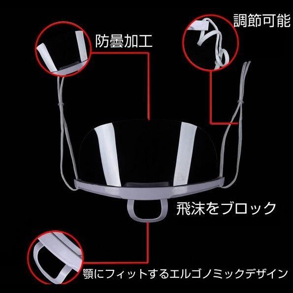 10枚セット マウスシールド 透明 即日発送 顔認証システム 口元カバー 飛沫防止 男女兼用 子供用としても可 ウィルス対策 マウスカバー マスク マウスガード|wigland|05