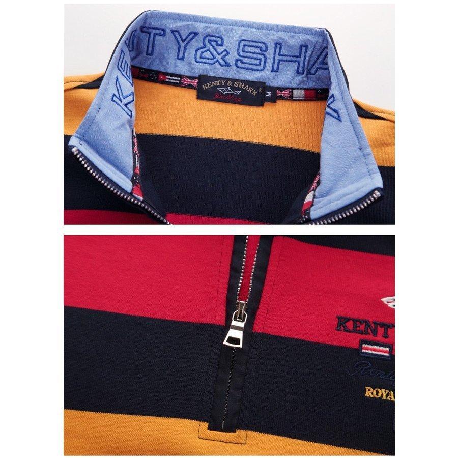 ポロシャツ 長袖 メンズ ボーダー柄 トップス ストレッチ 柔らかい 通気性よい wiiland-store 06