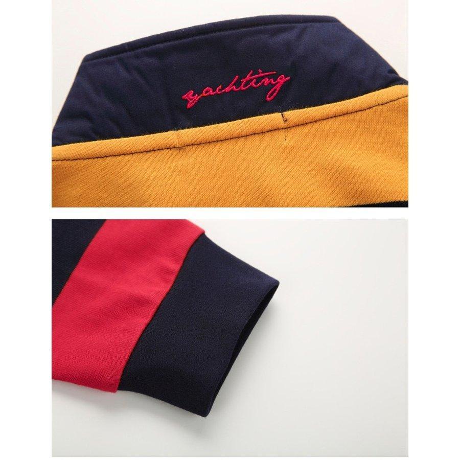 ポロシャツ 長袖 メンズ ボーダー柄 トップス ストレッチ 柔らかい 通気性よい wiiland-store 08