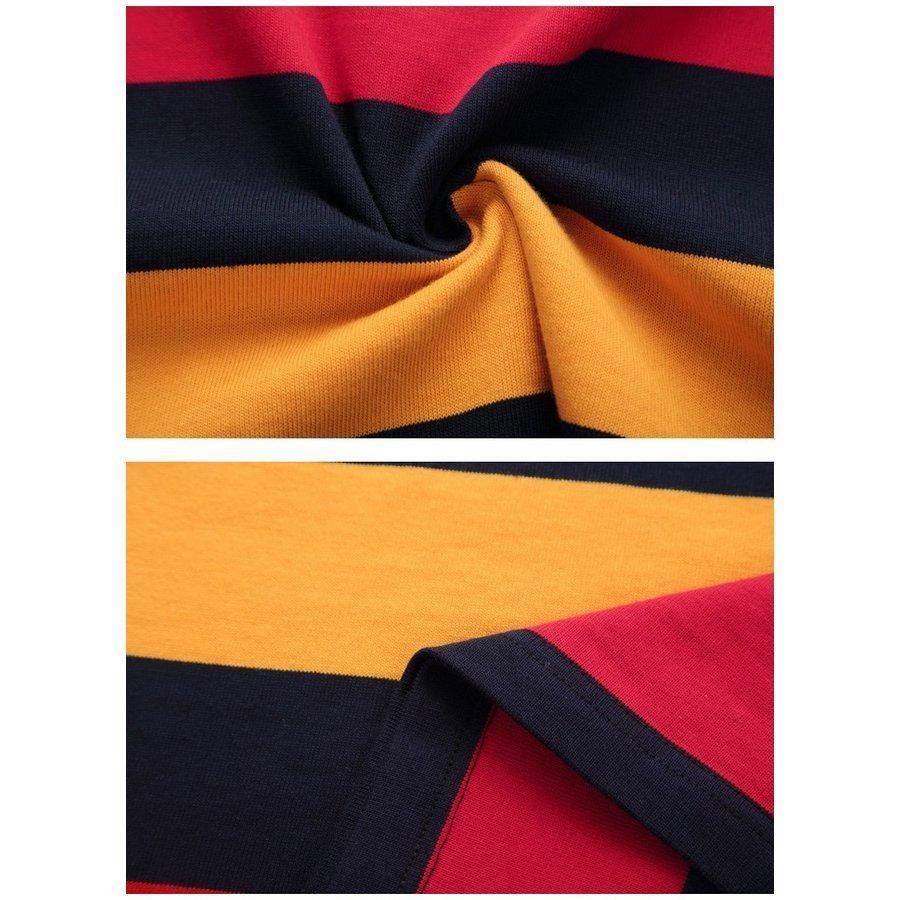 ポロシャツ 長袖 メンズ ボーダー柄 トップス ストレッチ 柔らかい 通気性よい wiiland-store 09