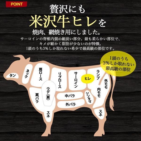 最高級A5ランク 米沢牛 焼肉用ヒレ 240g    冷凍 国産黒毛和牛 ヘレ フィレ 焼き肉|wil-mart|03