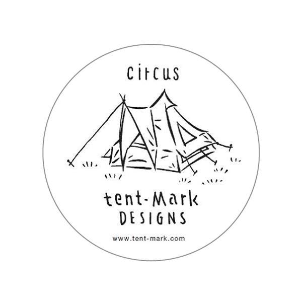 テンマクデザイン 激安特価品 ステッカー circus サーカス 安心と信頼