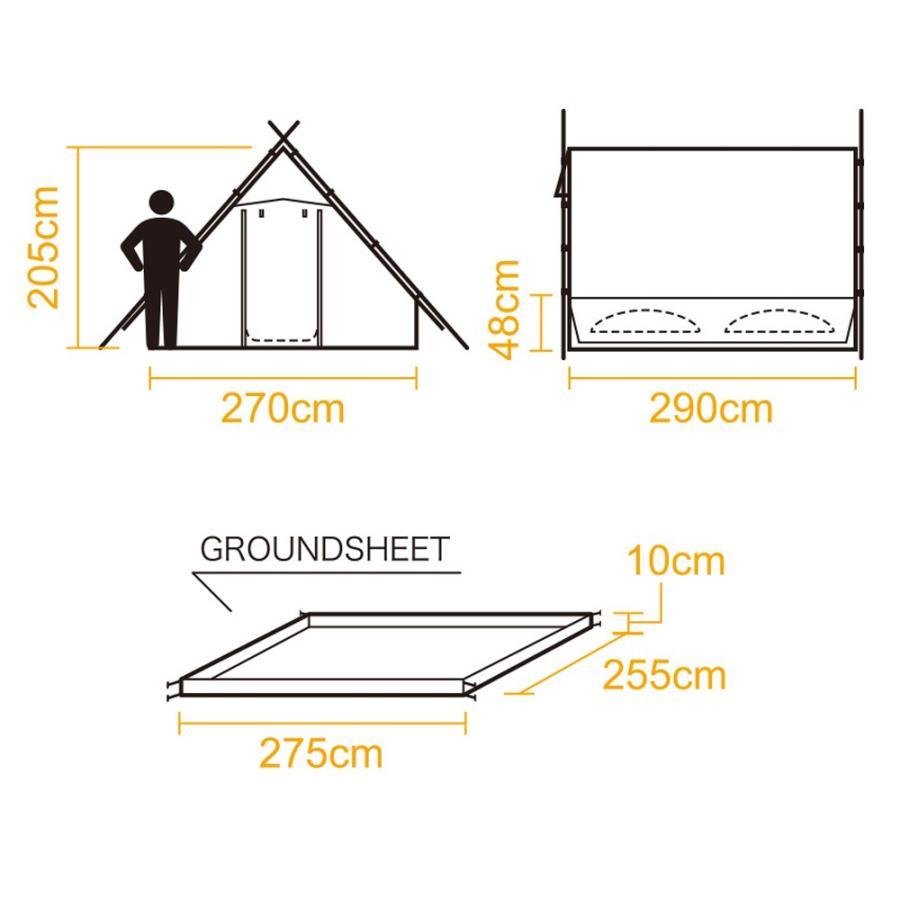tent-Mark DESIGNS (テンマクデザイン) PEPO ペポ 【テント レトロ TC】|wild1|06