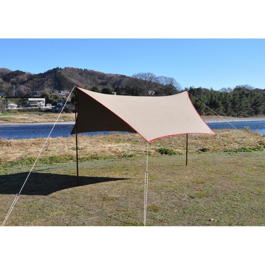 tent-Mark DESIGNS (テンマクデザイン) 焚火タープコットンヘキサ(M)【ヘキサタープ】|wild1