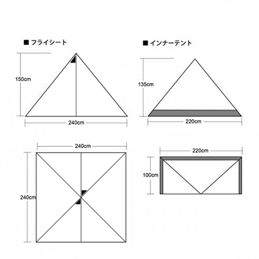 CAMPANDA×tent-Mark DESIGNS (テンマクデザイン) パンダ レッド【ワンポールテント】 wild1 13
