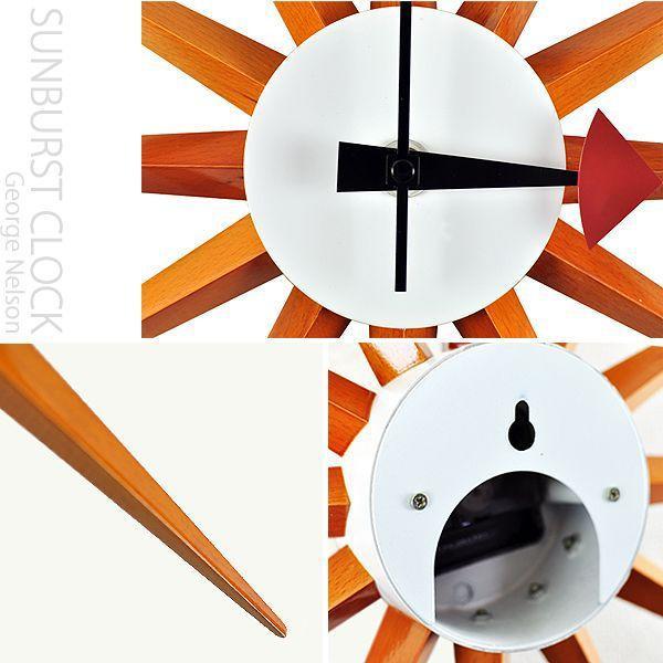 ジェネリック家具 ジョージ・ネルソン 壁掛け時計 -サンバーストクロック- (ウッディブラウン) 売れ筋 will-limited 02