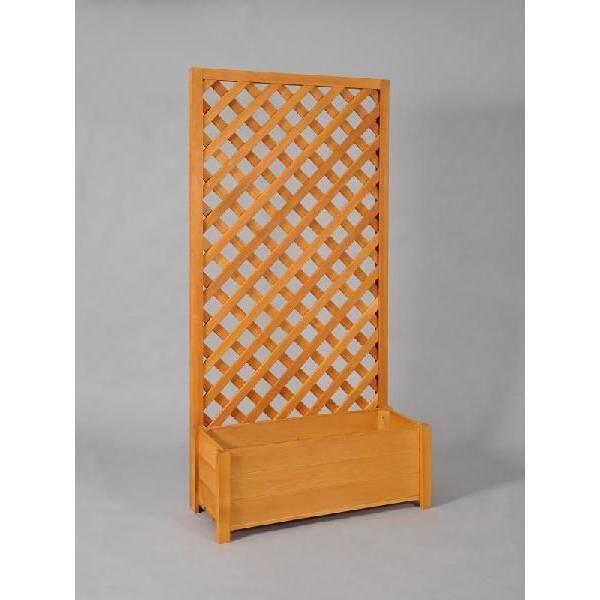 プランター付き 特注ラティスフェンス匠 ノーマル ななめ格子 パイン色 木製 高さ+横幅=合計270cm以内 日本製 プランターボックス