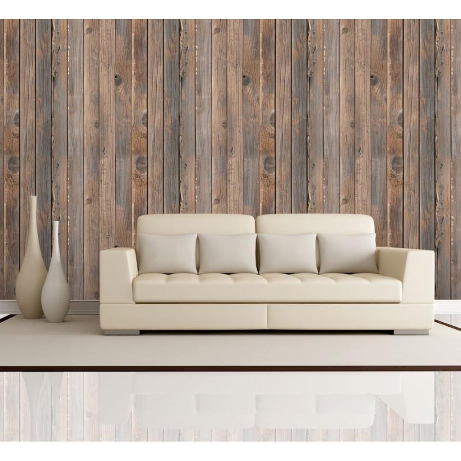 ウォールペーパー 壁紙 垂直ブラウンヴィンテージやレトロな木質感