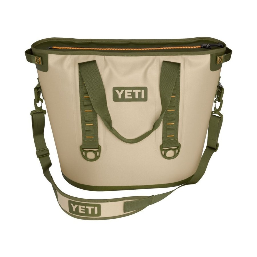 YETI (イエティ) Hopper Portable Cooler 40 Field Tan/Blaze Orange [並行輸入品]
