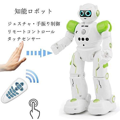 Threeking スマートロボット ラジコンスマートRCロボット充電式 おもちゃ 音楽ダンス 科学知識 二足歩行 リモートコントロール/ジ
