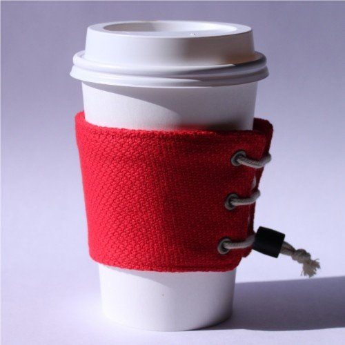 【帆布製】カップスリーブ コーヒースリーブ コーヒーホルダー (ゴム留め具付き)サイズ調整可能 おしゃれ 日本製 wincessnet 13