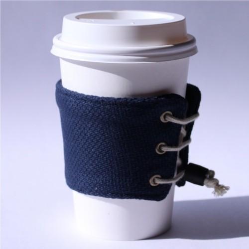 【帆布製】カップスリーブ コーヒースリーブ コーヒーホルダー (ゴム留め具付き)サイズ調整可能 おしゃれ 日本製 wincessnet 16
