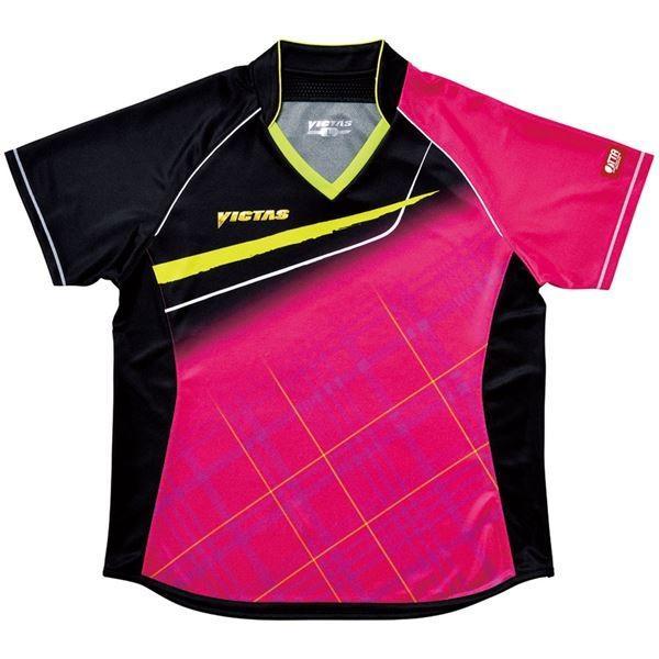ヤマト卓球 VICTAS(ヴィクタス) 卓球アパレル V-LS037 Viscotecs ゲームシャツ(女子用) 031460 ピンク XXOサイズ