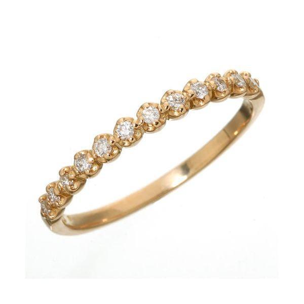 最安値級価格 K18 ダイヤハーフエタニティリング ピンクゴールド 13号 指輪, 山城町 d5d6c60e