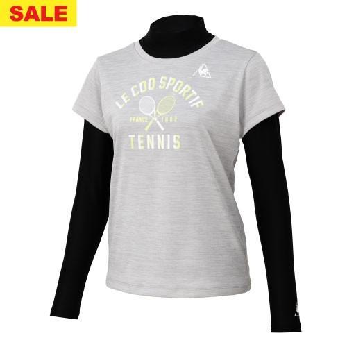 ルコックスポルティフ インナー付きシャツ(QTWOJA14CP-MGR)[lecoq sportif LS レディース]