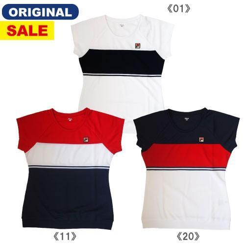 【ワゴンSALE価格】フィラ ゲームシャツ(VL1810)[FILA LS レディーステニスウエア]※ウインザーオリジナル