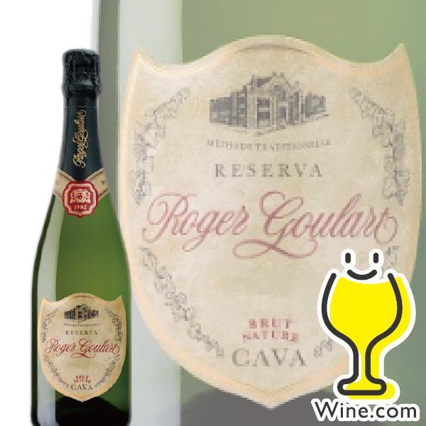 辛口 スパークリングワイン ロジャーグラート カバ ブリュット ナチュール 750ml|wine-com