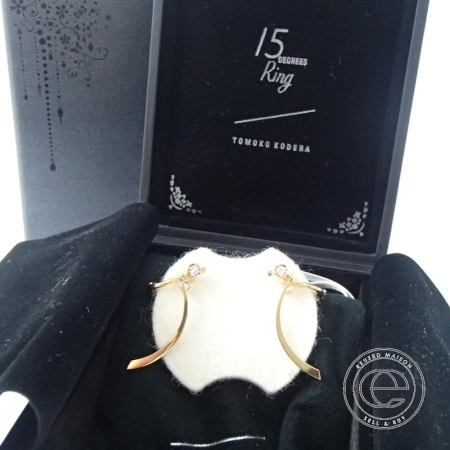 TOMOKOKODERA小寺智子トモココデラ K18YG ダイヤモンド0.18ct ピアス|wine-king