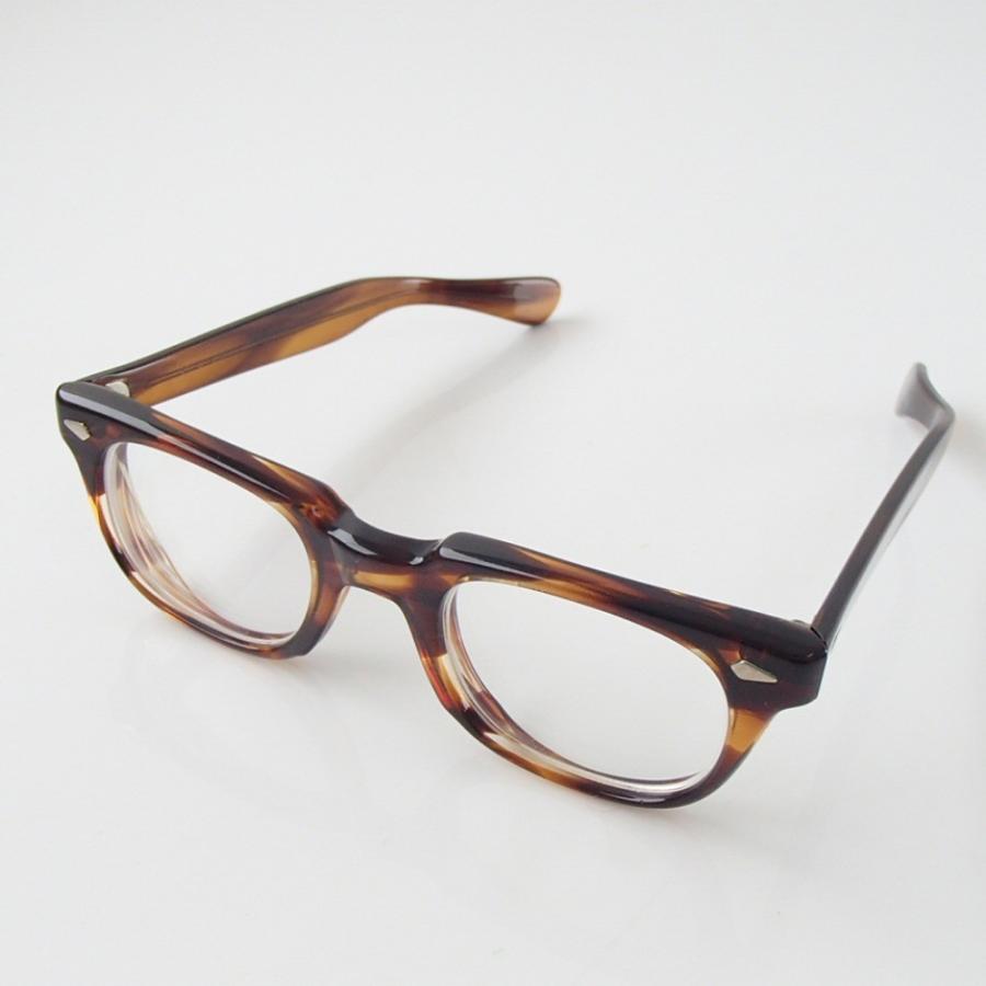 激レア TART OPTICALタートオプティカル 1960s T-MAN TORTOISE ダイヤヒンジ 48□23 テンプル5 3/4 ウェリントン型 眼鏡フレーム|wine-king|03