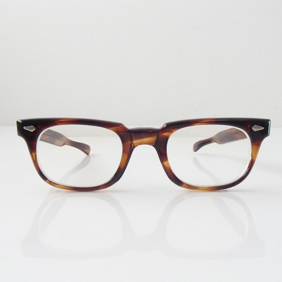 激レア TART OPTICALタートオプティカル 1960s T-MAN TORTOISE ダイヤヒンジ 48□23 テンプル5 3/4 ウェリントン型 眼鏡フレーム|wine-king|04