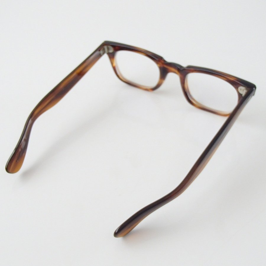 激レア TART OPTICALタートオプティカル 1960s T-MAN TORTOISE ダイヤヒンジ 48□23 テンプル5 3/4 ウェリントン型 眼鏡フレーム|wine-king|05
