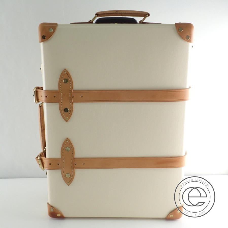 □GLOBEーTROTTER グローブトロッター GTSAFIN20 サファリ 20インチ トロリー スーツケース アイボリーホワイト