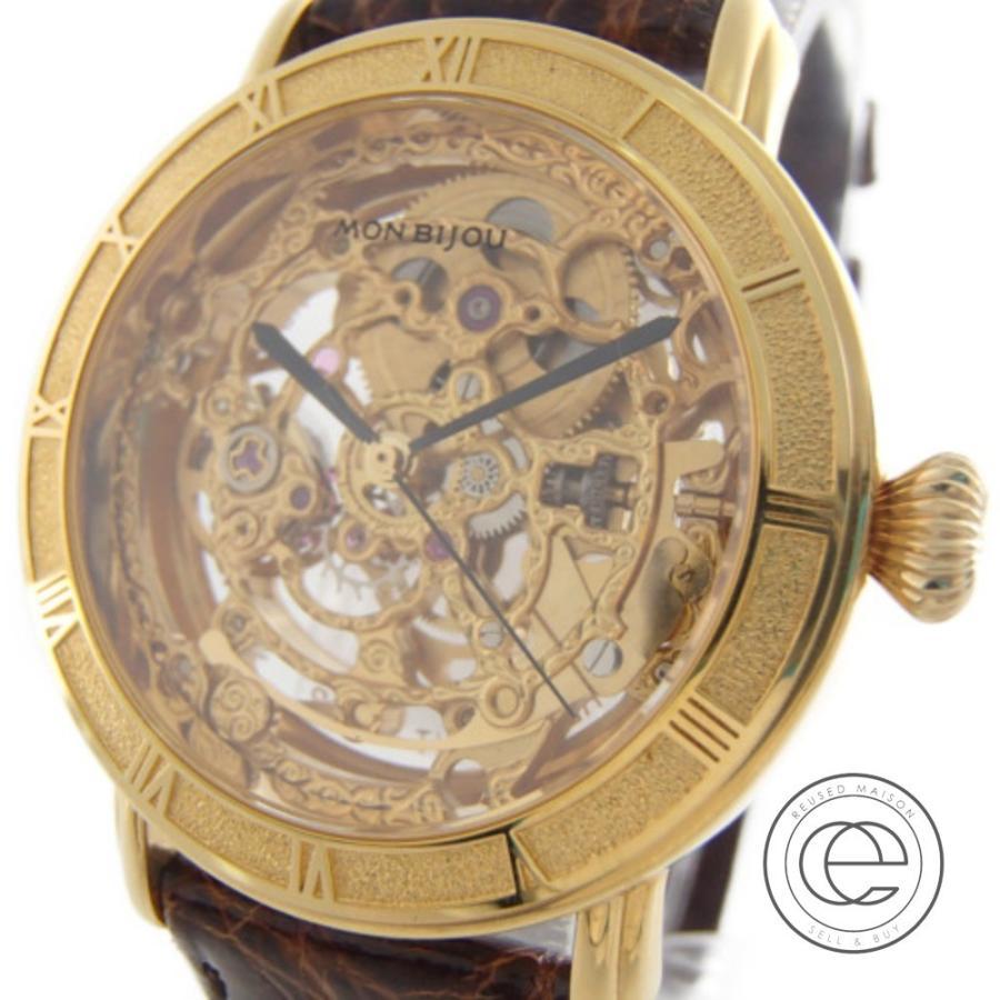 大きい割引 ORIENT オリエント WZ0061EQ MON BIJOUモンビジュー フルスケルトン 手巻き 腕時計 イエローゴールド, サエダオンラインショップ 50971dda