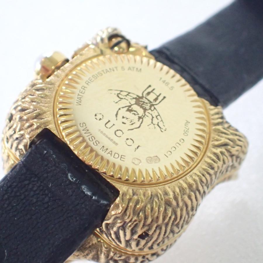 GUCCI グッチ 146.5 ル マルシェ デ メルヴェイユシークレットウォッチ ダイヤモンドアイ キャットヘッドK18金無垢ケース クォーツ腕時計|wine-king|11