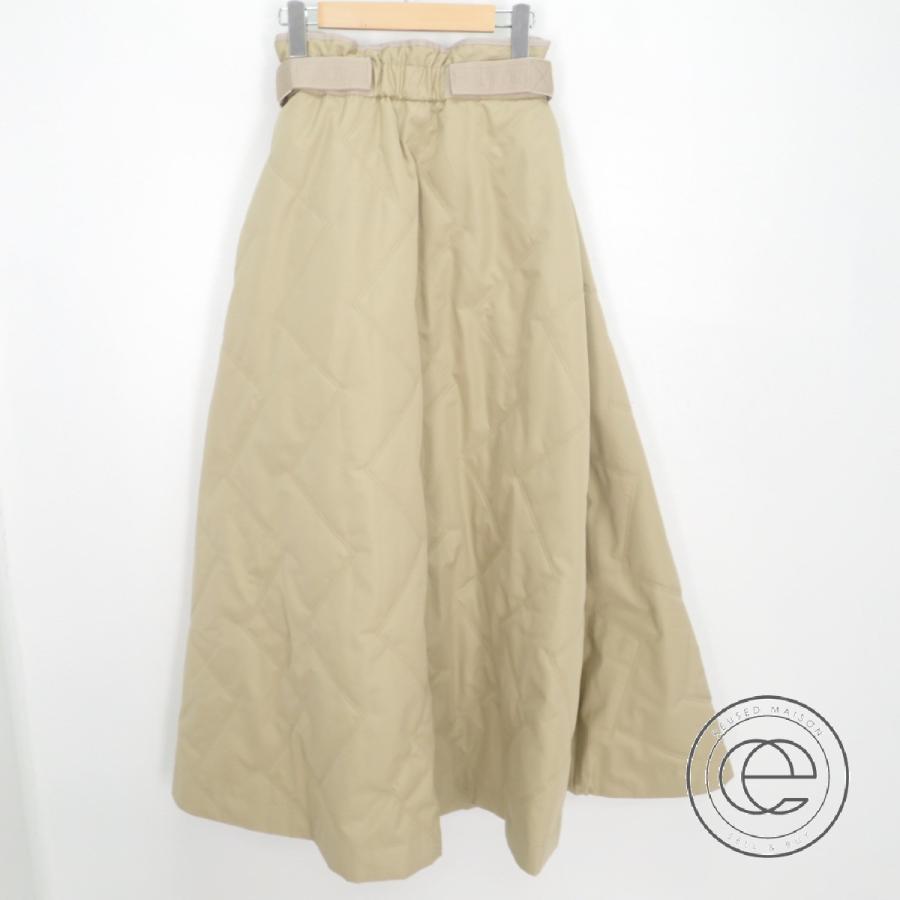 キルト フレア ロング スカート