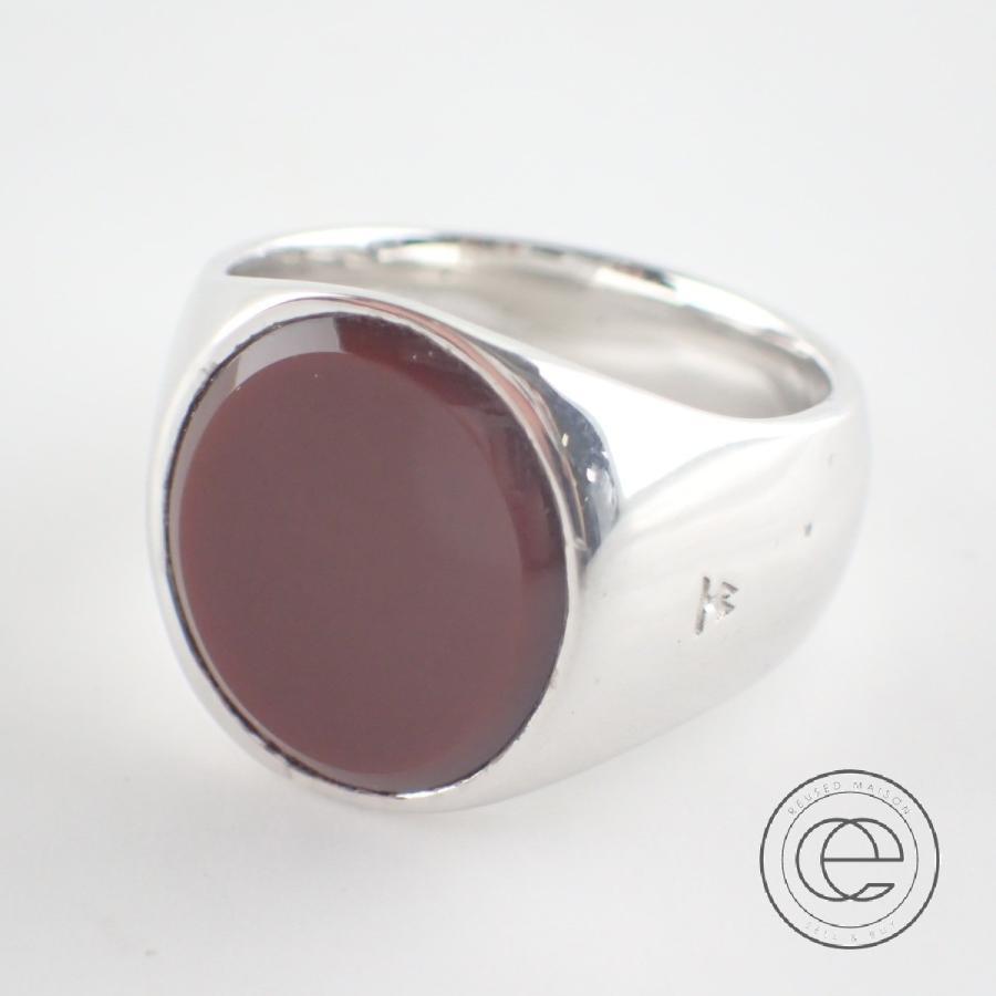 【第1位獲得!】 美品 TOMWOOD Ring トムウッド メンズ Oval Ring 指輪 Red Agate SV925 レッドアゲートオーバルリング17号 指輪 シルバー/レッドブラウン メンズ, アキオオタチョウ:98034f04 --- airmodconsu.dominiotemporario.com