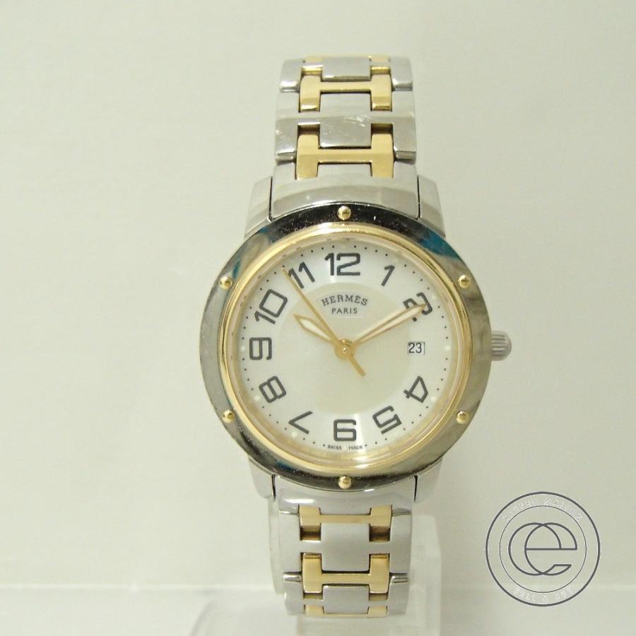 HERMESエルメス CP1.320 クリッパー クオーツ腕時計 シルバー/ゴールド レディース|wine-king