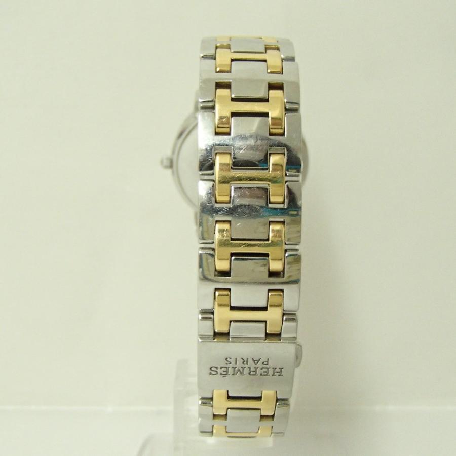 HERMESエルメス CP1.320 クリッパー クオーツ腕時計 シルバー/ゴールド レディース|wine-king|06