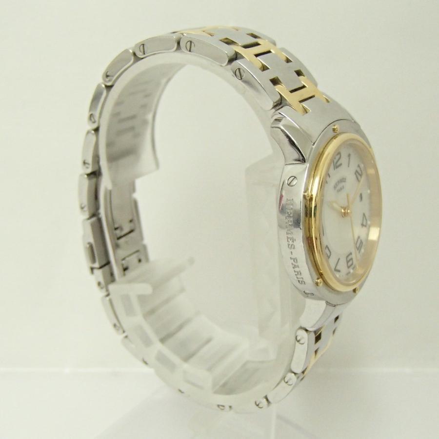 HERMESエルメス CP1.320 クリッパー クオーツ腕時計 シルバー/ゴールド レディース|wine-king|07