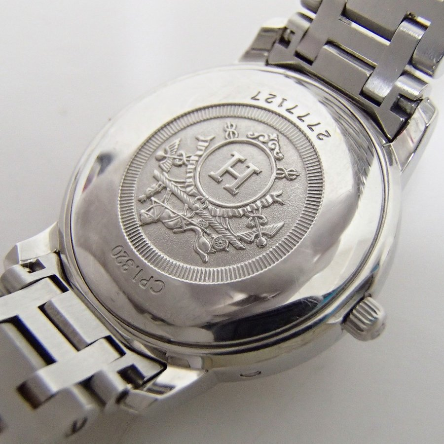 HERMESエルメス CP1.320 クリッパー クオーツ腕時計 シルバー/ゴールド レディース|wine-king|09