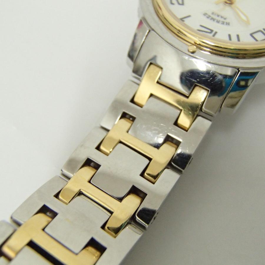 HERMESエルメス CP1.320 クリッパー クオーツ腕時計 シルバー/ゴールド レディース|wine-king|10
