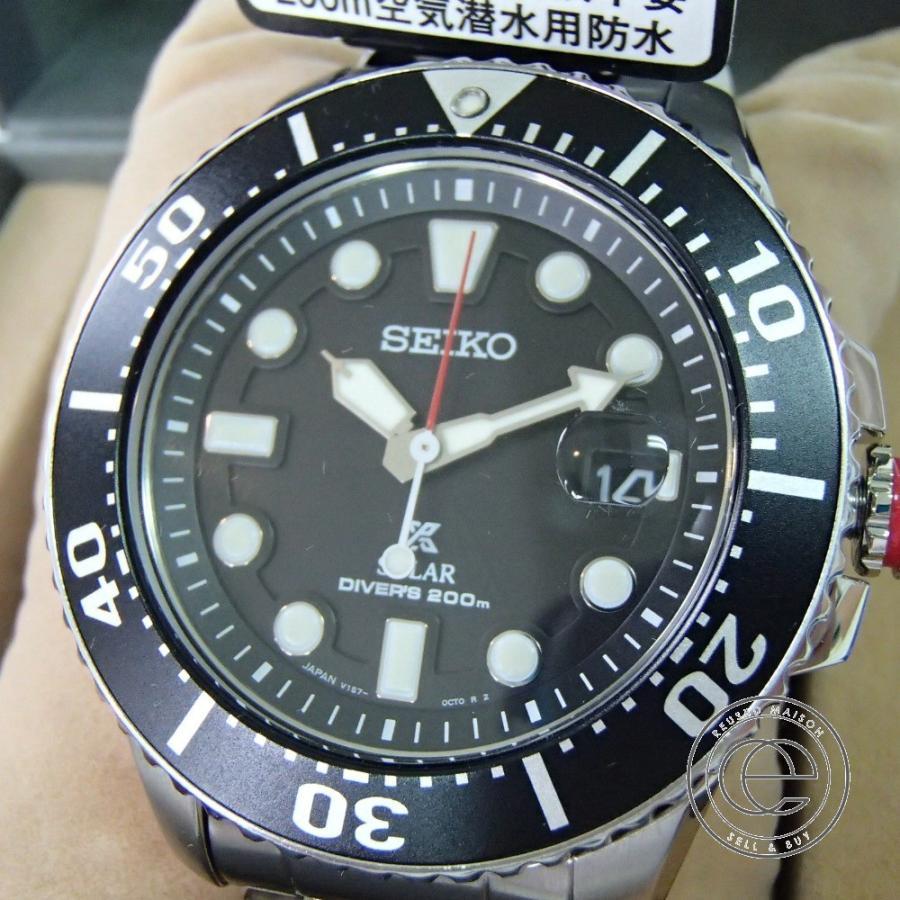 新品同様 SEIKO セイコー PROSPEXプロスペックス SBDJ017 ダイバースキューバ  ソーラー腕時計  シルバー ステンレススチール|wine-king