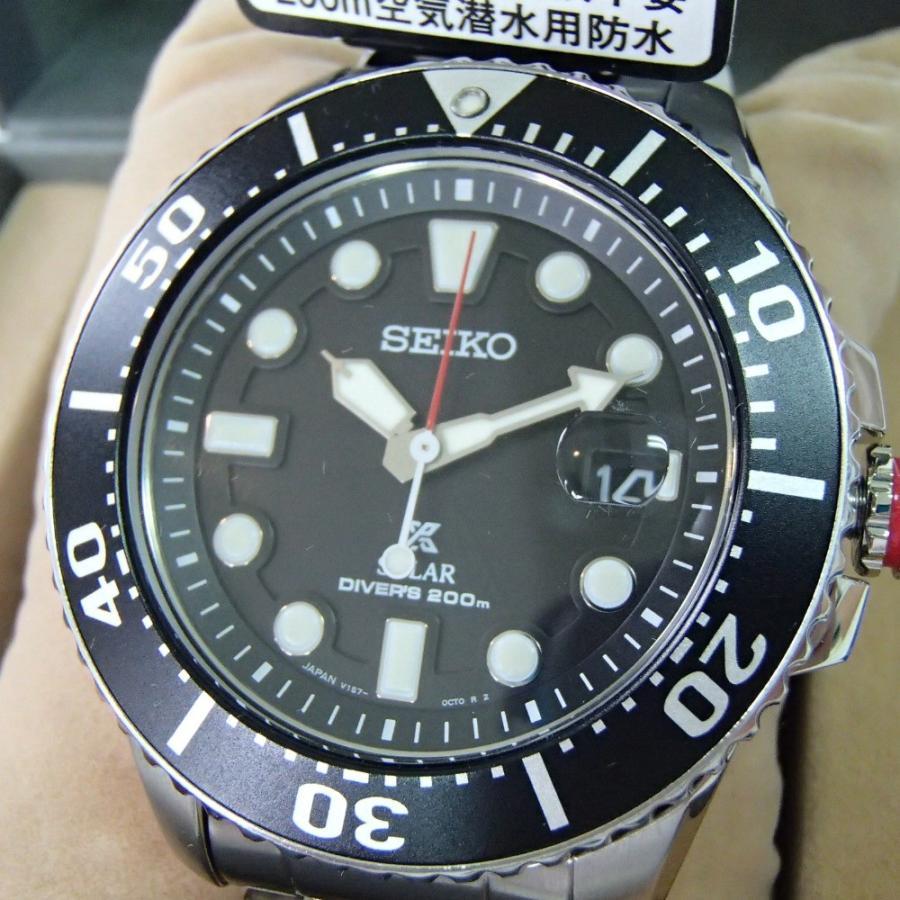 新品同様 SEIKO セイコー PROSPEXプロスペックス SBDJ017 ダイバースキューバ  ソーラー腕時計  シルバー ステンレススチール|wine-king|02