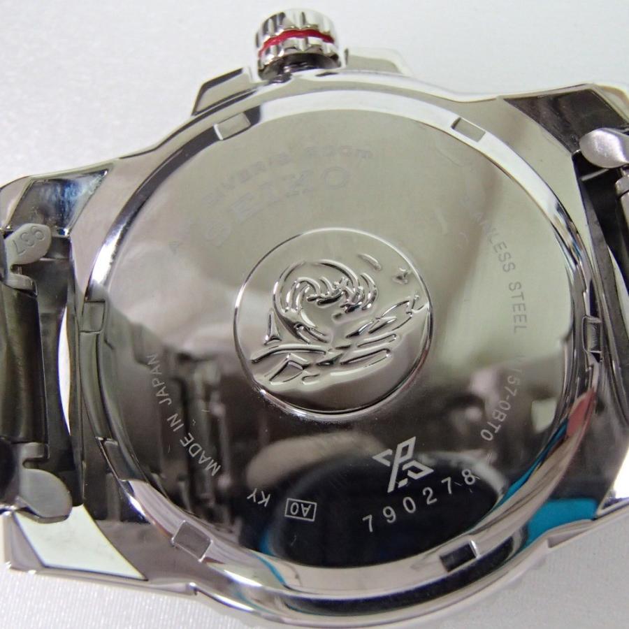 新品同様 SEIKO セイコー PROSPEXプロスペックス SBDJ017 ダイバースキューバ  ソーラー腕時計  シルバー ステンレススチール|wine-king|06