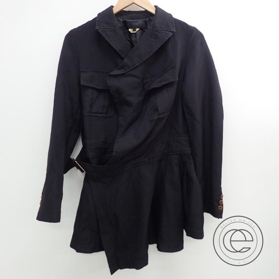 【おしゃれ】 COMMEdesGARCONS コムデギャルソン RO-J005 ベルト付き裾フリル ジャケット S ブラック レディース, CHARMING(チャーミング) 5fe3681a