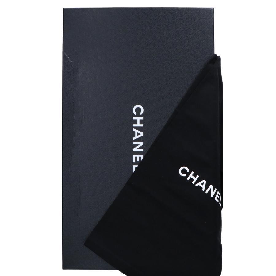 CHANEL シャネル G33042 CCココマークトゥ スエード/グログラン サイハイブーツ シューズ 35C ブラック レディース wine-king 10