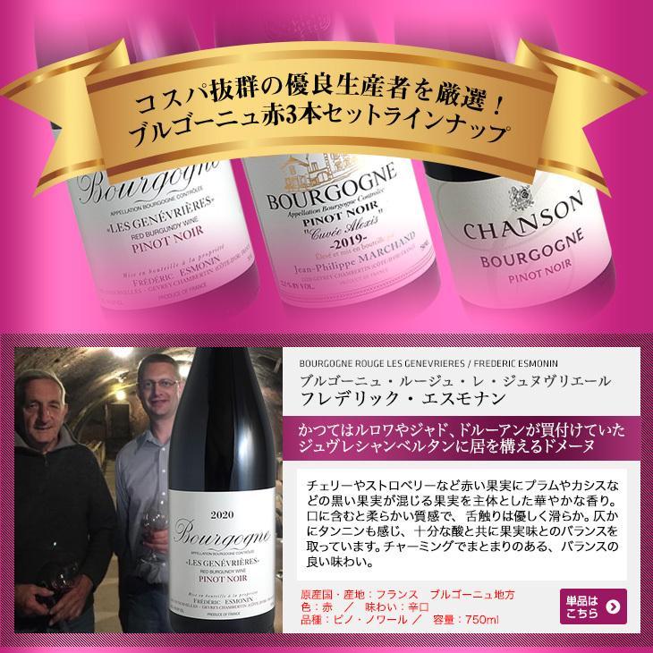(送料無料)ブルゴーニュ赤ワイン3本セット(A) コスパ抜群の優良生産者を厳選|winecellarescargot|05