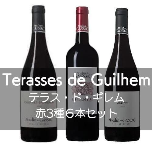 ムーラン・ド・ガサック テラス・ド・ギレム赤3種6本セット【ワインセット】|wineholic