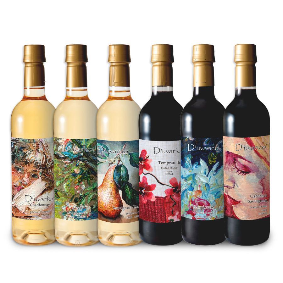 送料無料 デュヴァリコ ワイン アソート 6本セット ペットボトル ワインセット|winenet