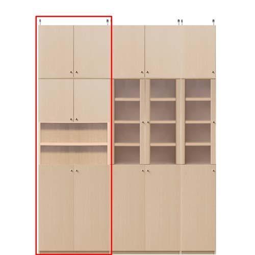 飾り棚付両開き扉 耐震ファイル収納棚 高さ232·241cm幅81·90cm奥行46cm厚棚板(棚板厚み2.5cm)