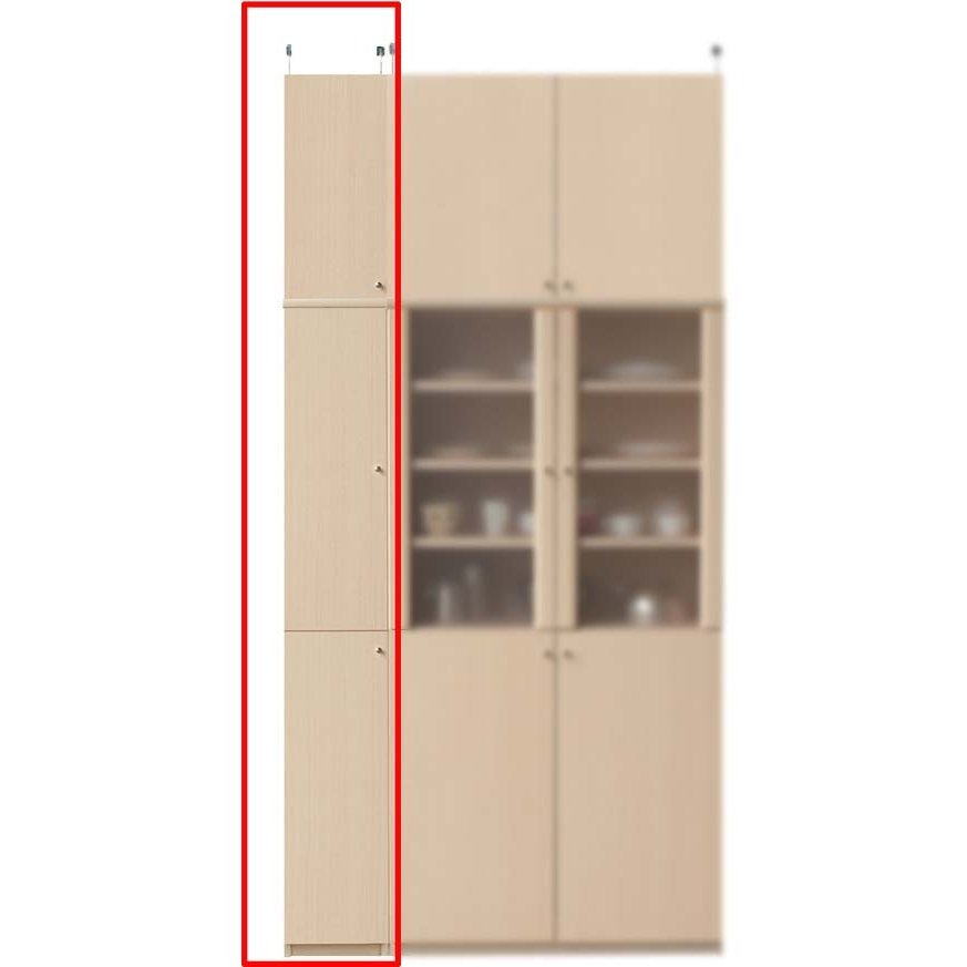 木製キッチンスリムストッカー キッチンラック 高さ241〜250cm幅25〜29cm奥行31cm厚棚板(棚板厚2.5cm)