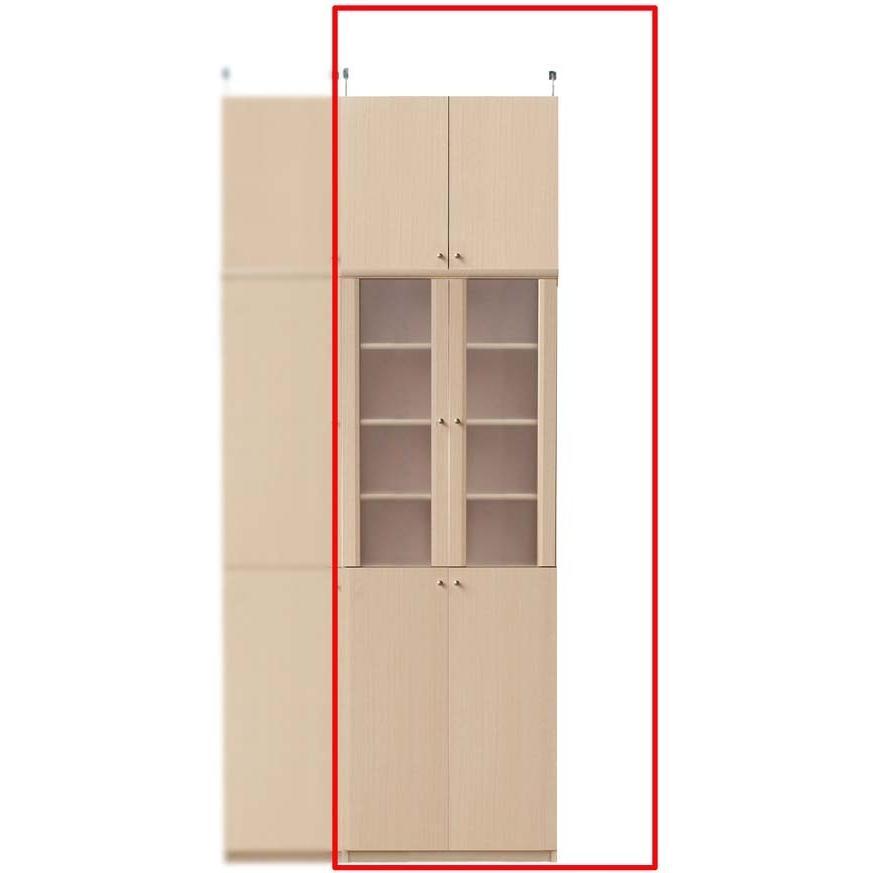 半透明扉付台所収納棚 キッチン収納 高さ232·241cm幅60·70cm奥行46cm
