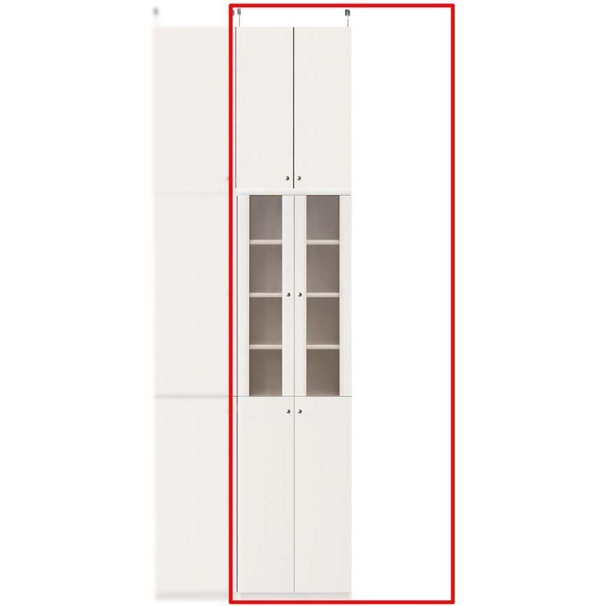 扉付き木製台所収納棚 キッチン収納 高さ250·259cm幅45·59cm奥行46cm厚棚板(棚板厚2.5cm)
