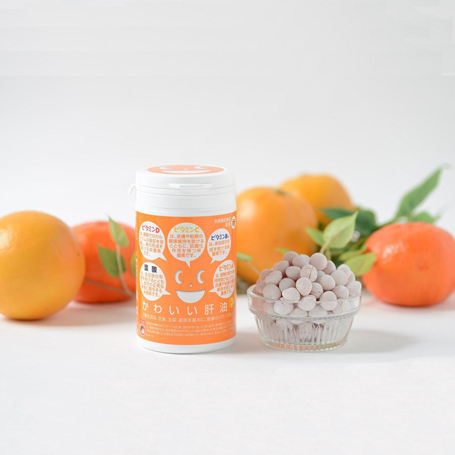 [栄養機能食品 (ビタミンA・ビタミンB12・葉酸・ビタミンC・ビタミンD含有食品)]かわいい肝油プラス winnowstore