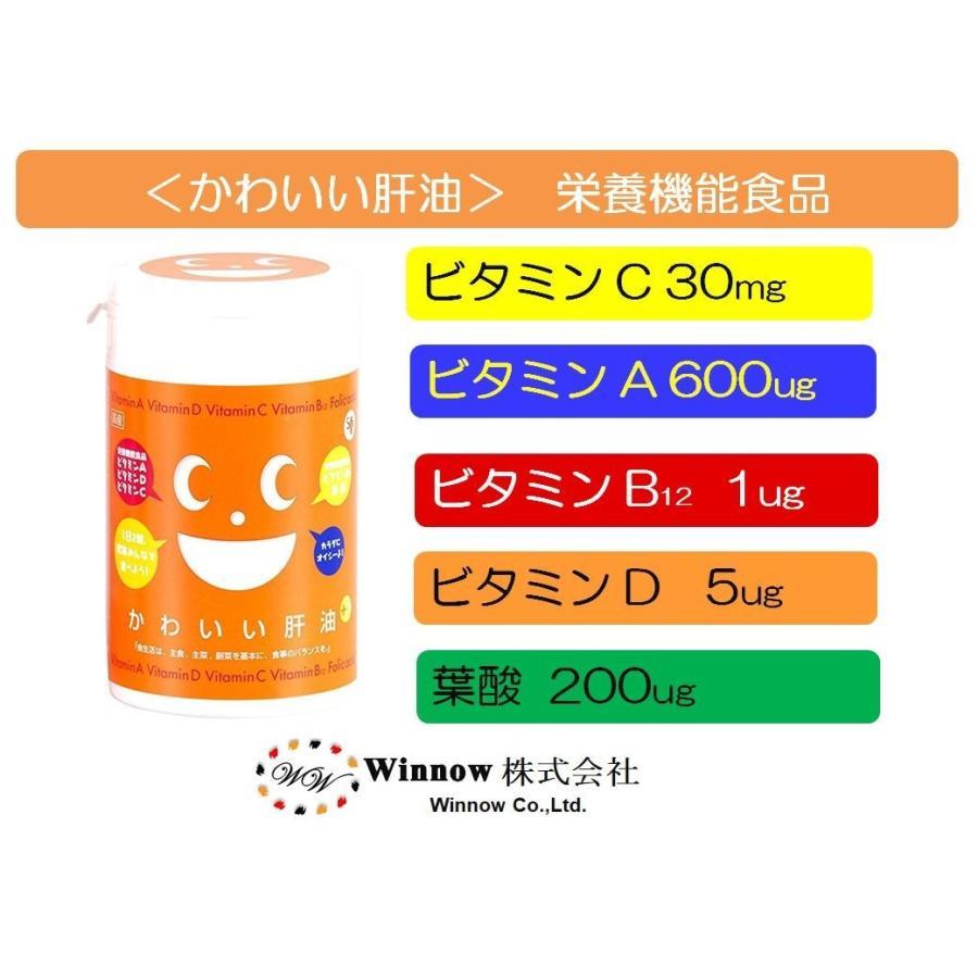 [栄養機能食品 (ビタミンA・ビタミンB12・葉酸・ビタミンC・ビタミンD含有食品)]かわいい肝油プラス winnowstore 02